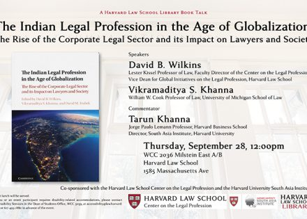 Book Talk: The Indian Legal Profession in the Age of Globalization
